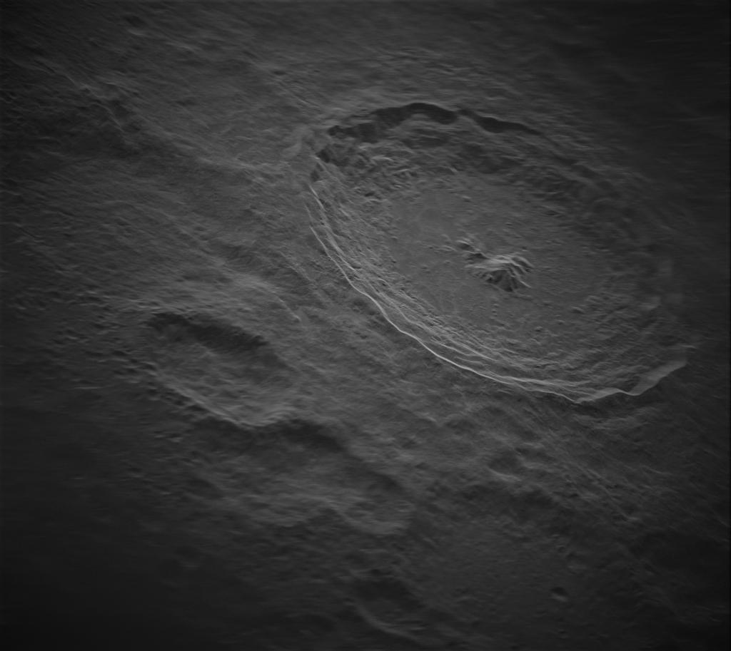 Тихо - один із найвидовищніших місячних кратерів Місяця / фото NRAO/GBO/Raytheon/NSF/AUI