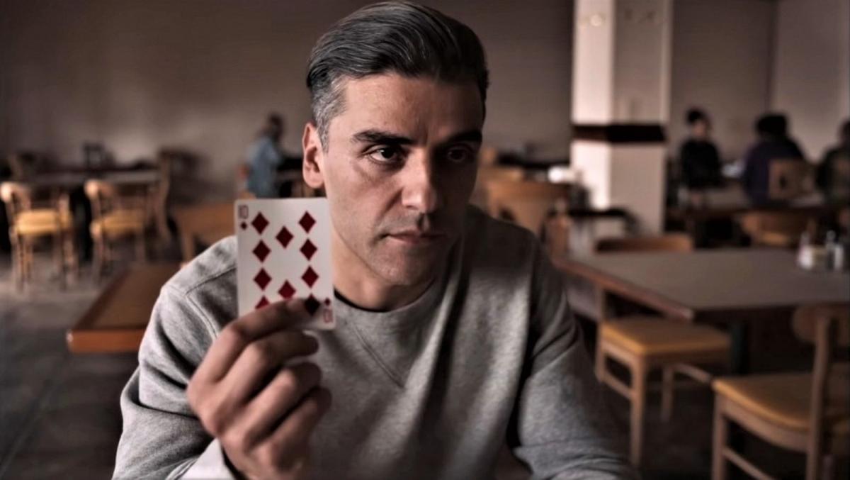 """Оскар Айзек в роли Уильяма Телля / кадр из фильма """"Холодный расчет"""""""