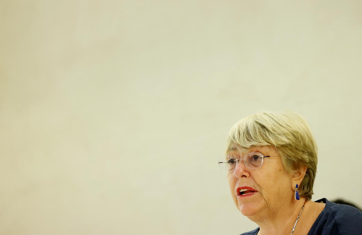 Бачелет розповіла про знущання над ув'язненими в Білорусі \ фото REUTERS