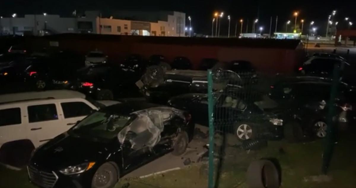 Наслідки масштабної ДТП на Столичному шосе / скріншот відео