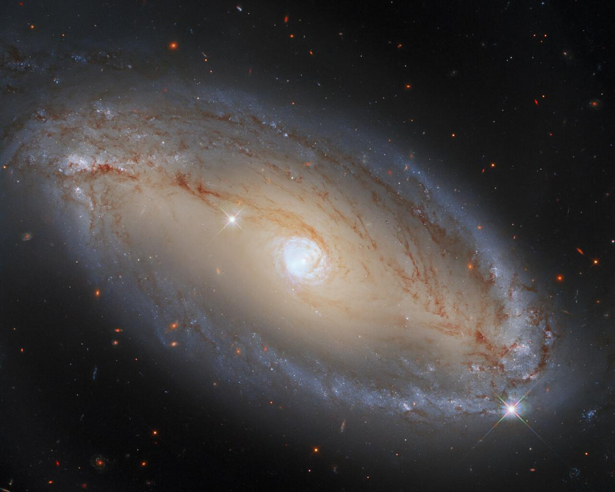 На знімку NCG 5728 виглядає як елегантна, світла галактика / фото ESA/Hubble, A. Riess et al., J. Greene
