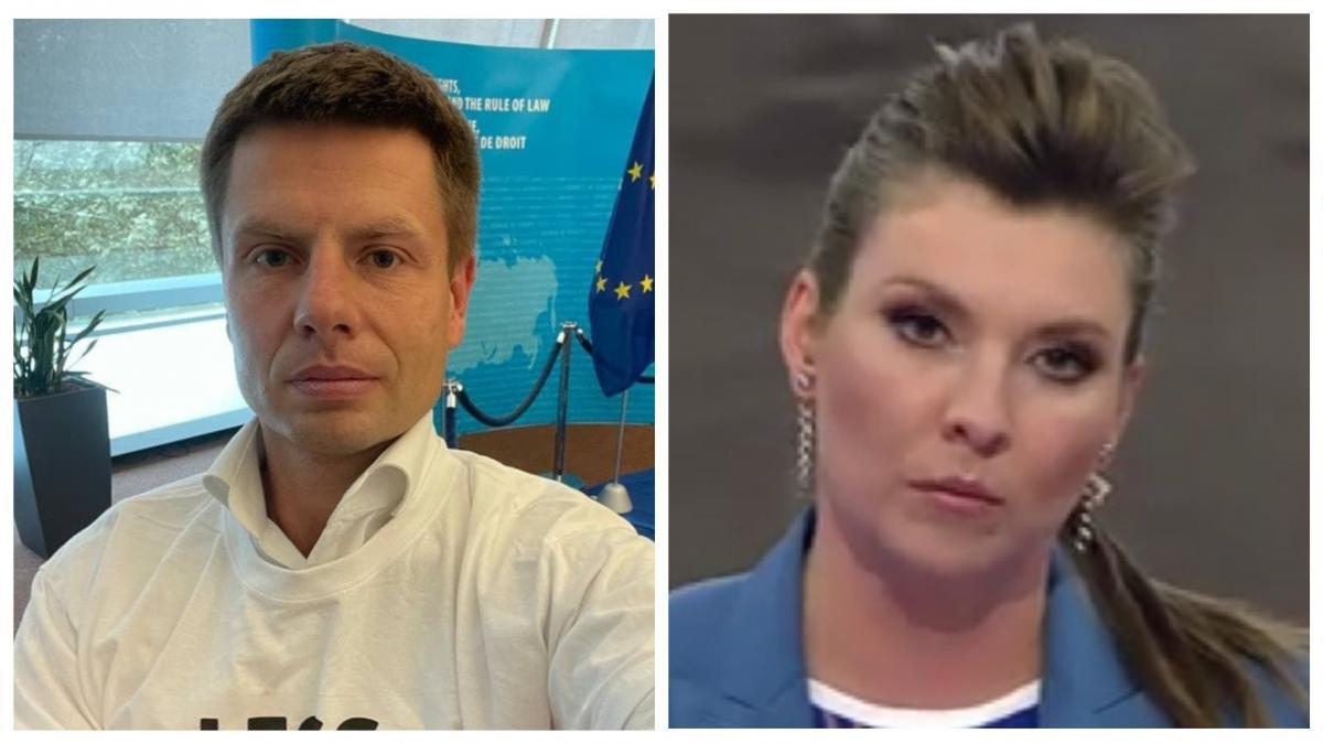 Скабєєва не оцінила футболку Гончаренка / колаж УНІАН