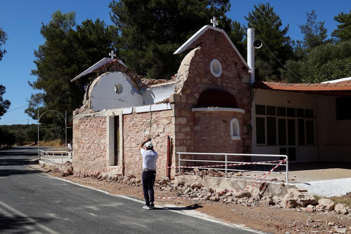 На Криті тривають землетруси / фото REUTERS
