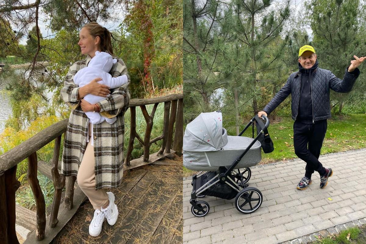 Осадчая и Горбунов решили прогуляться с сыном / фото - instagram.com/gorbunovyuriy, /kosadcha