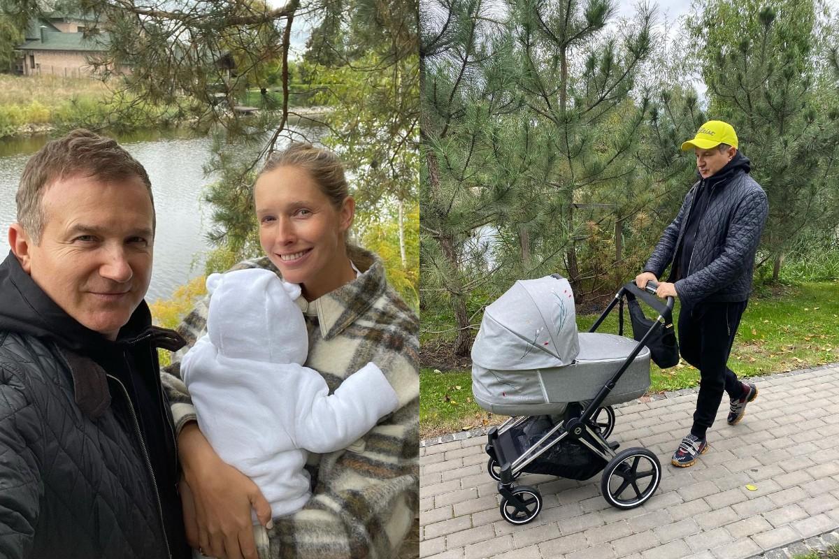 Осадчая и Горбунов на осенней прогулке с сыном / фото - instagram.com/gorbunovyuriy