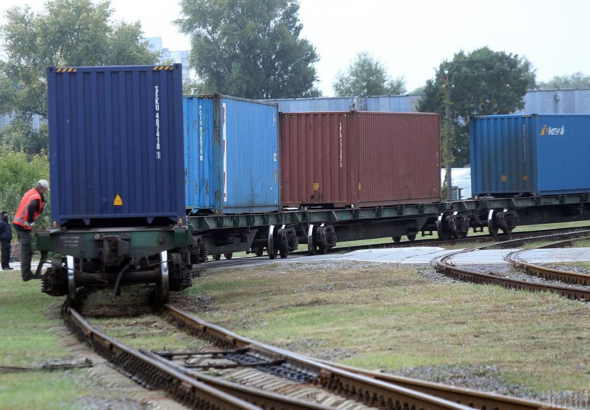 The freight train Ukraine - China has left the Kiev railway station / photo UNIAN
