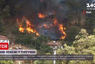 На юге Турции снова вспыхнули лесные пожары