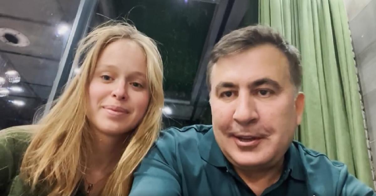 Ясько и Саакашвили заявили о своем романе 1 октября / скриншот с видео