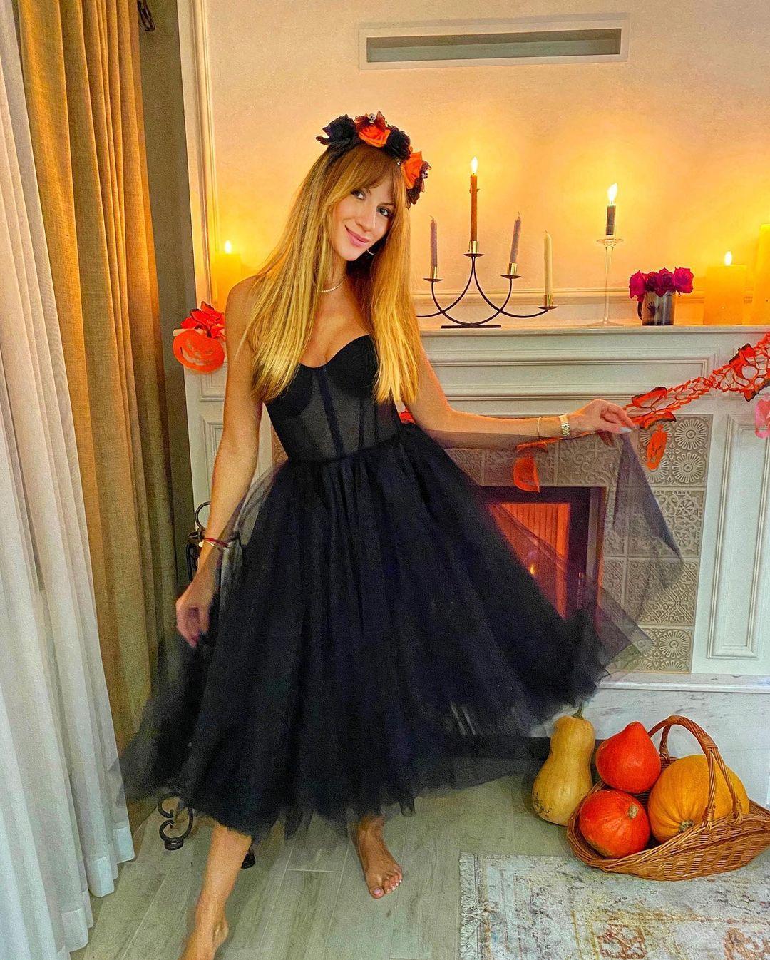 Леся Нікітюк на Хелловін / фото instagram.com/lesia_nikituk