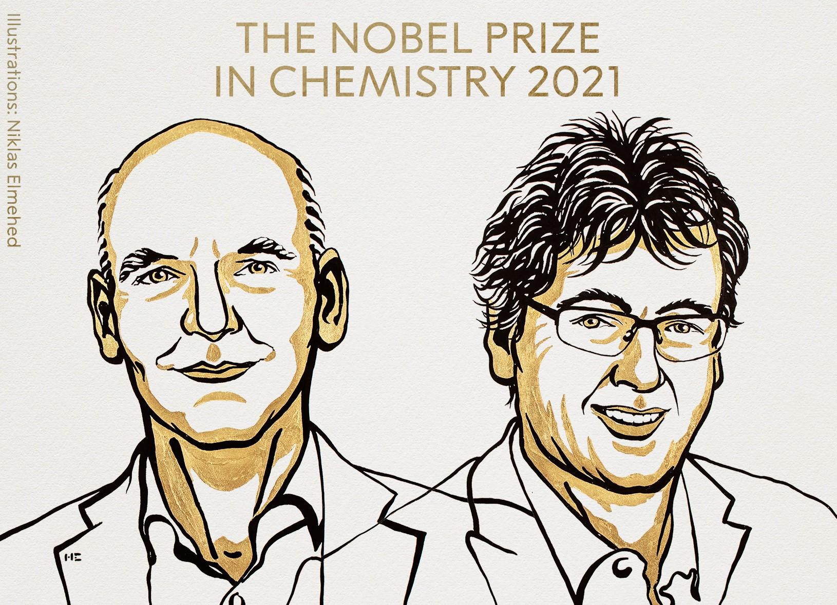 Объявлены лауреаты Нобелевской премии по химии в 2021 году / фото twitter.com/NobelPrize