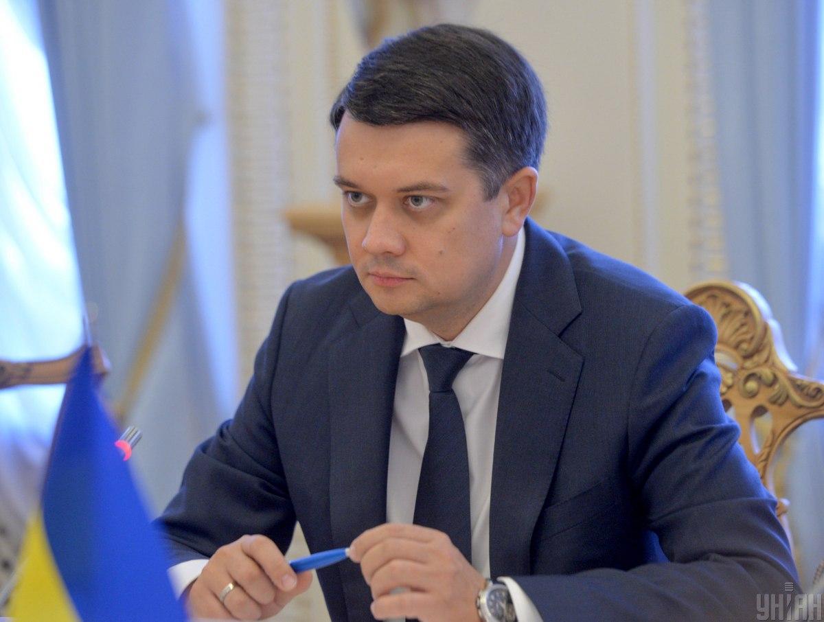 Дмитрий Разумков не считает Владимира Зеленского своим другом/ УНИАН