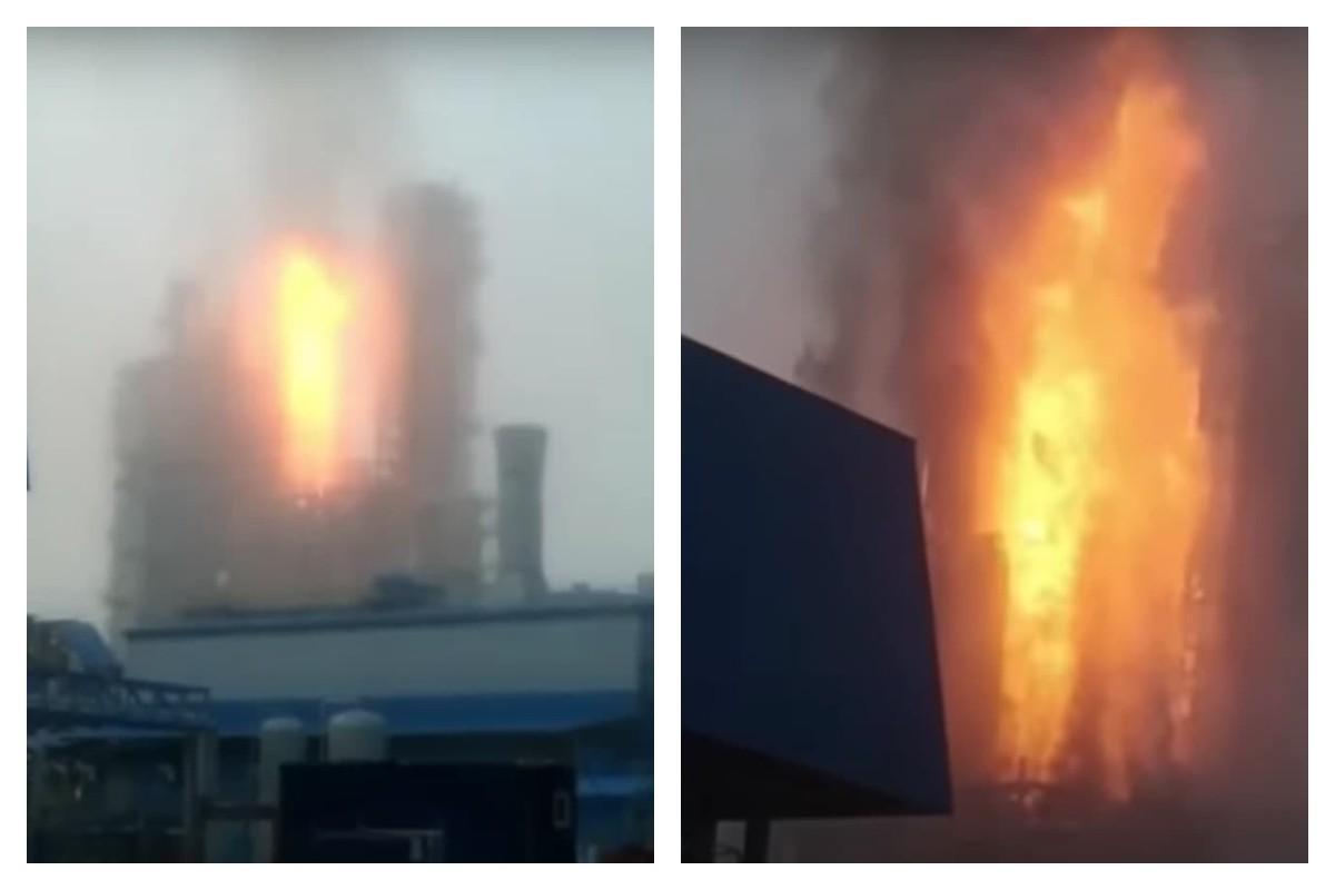 На место взрыва приехали пожарные, спасатели и аварийные службы / скриншот с видео