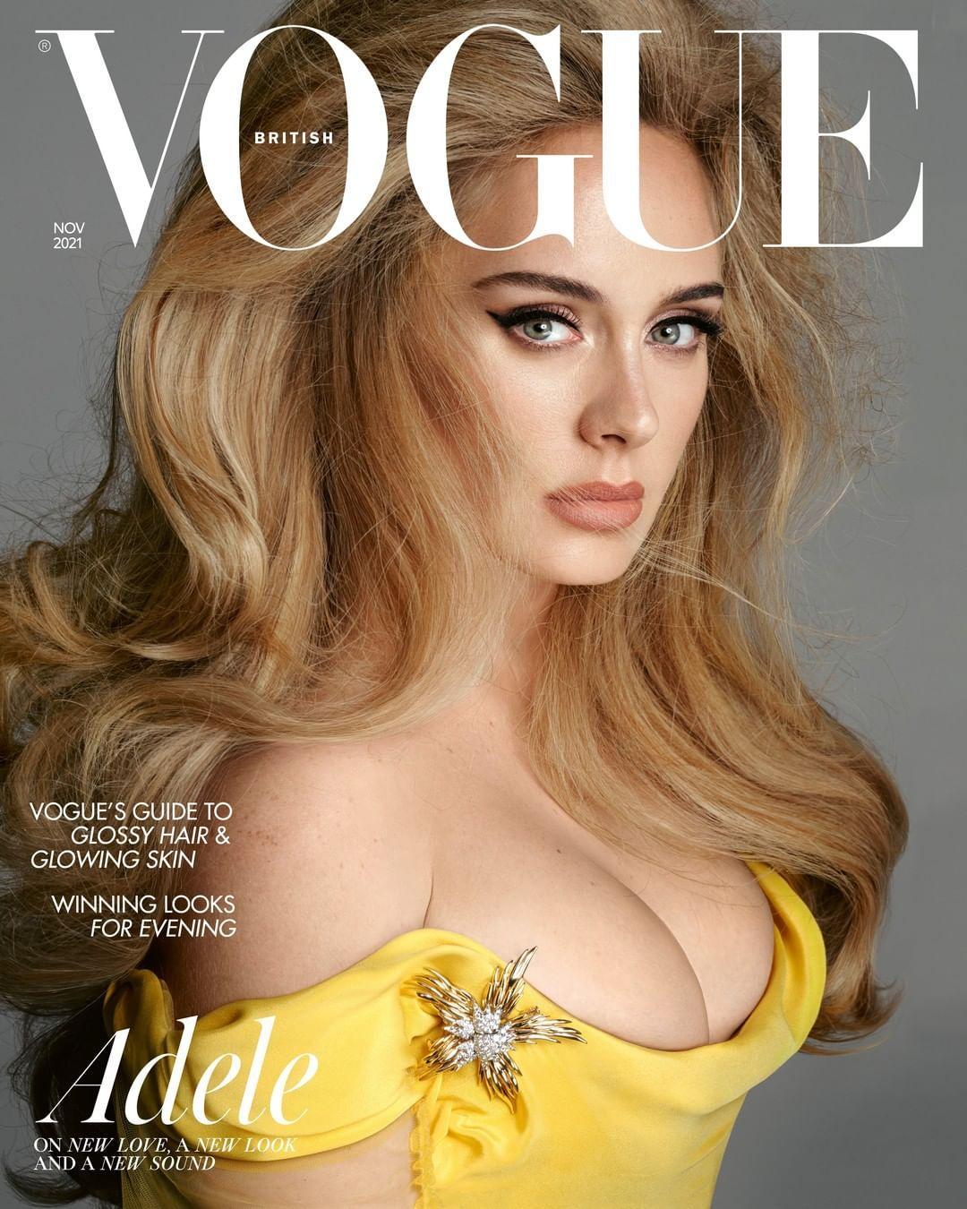 Адель на обкладинці британського Vogue / фото instagram.com/adele