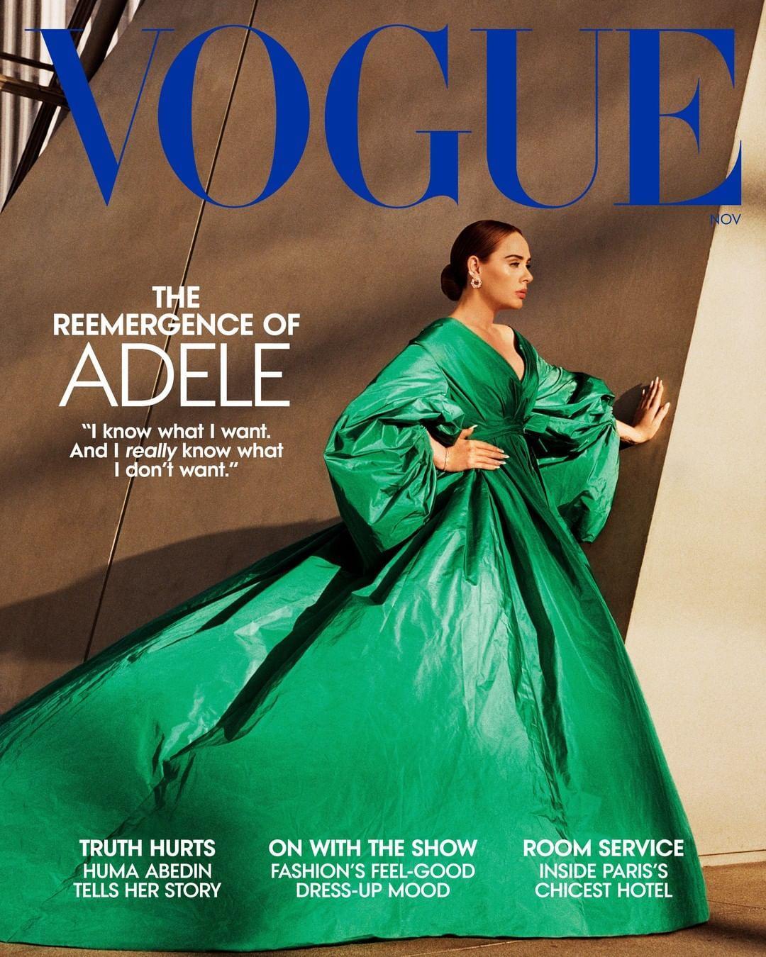 Адель на обкладинці американського Vogue / фото instagram.com/adele