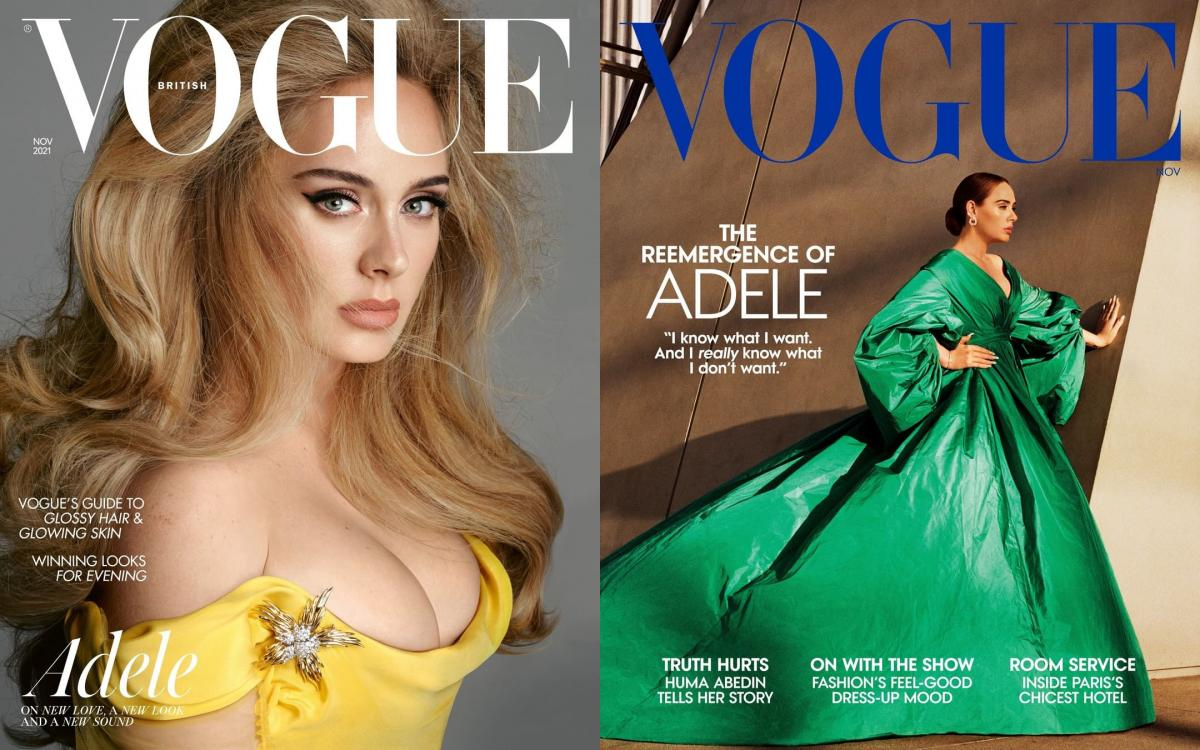 Адель на обкладинках Vogue / фото instagram.com/adele