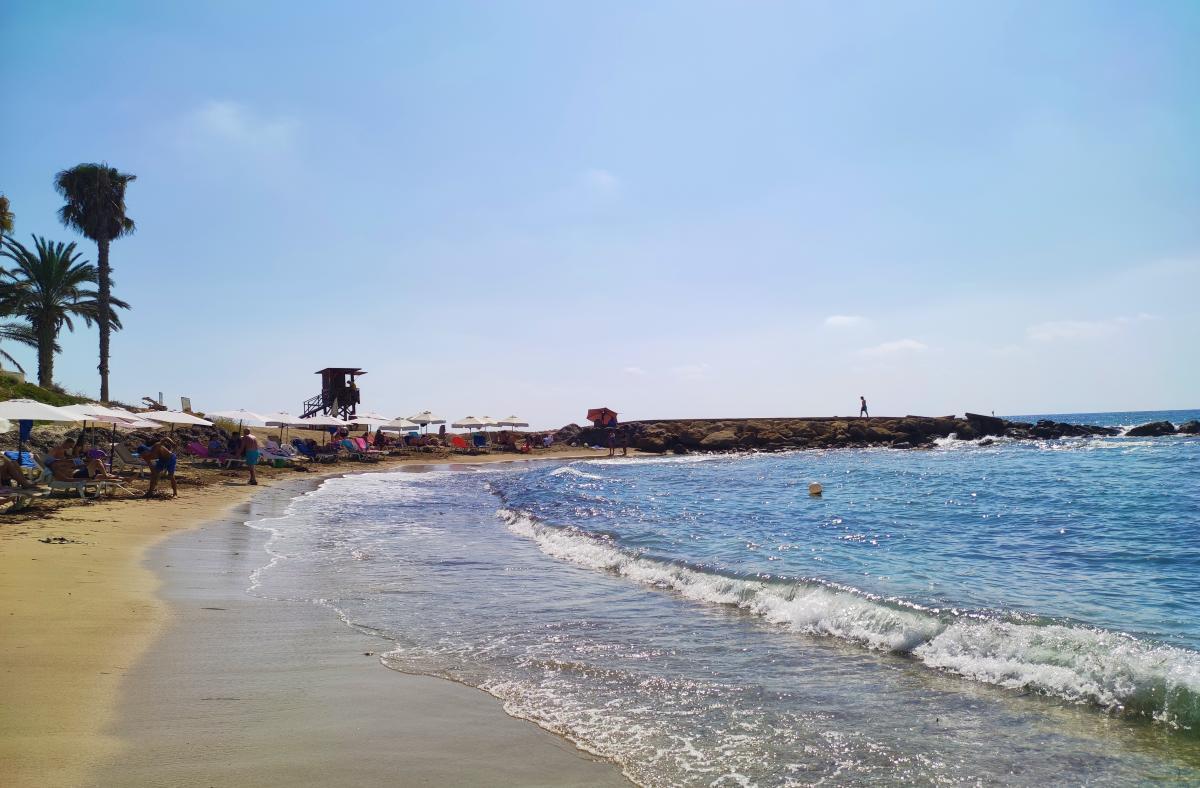 Vrisoudia Beach в Пафосі / фото Марина Григоренко