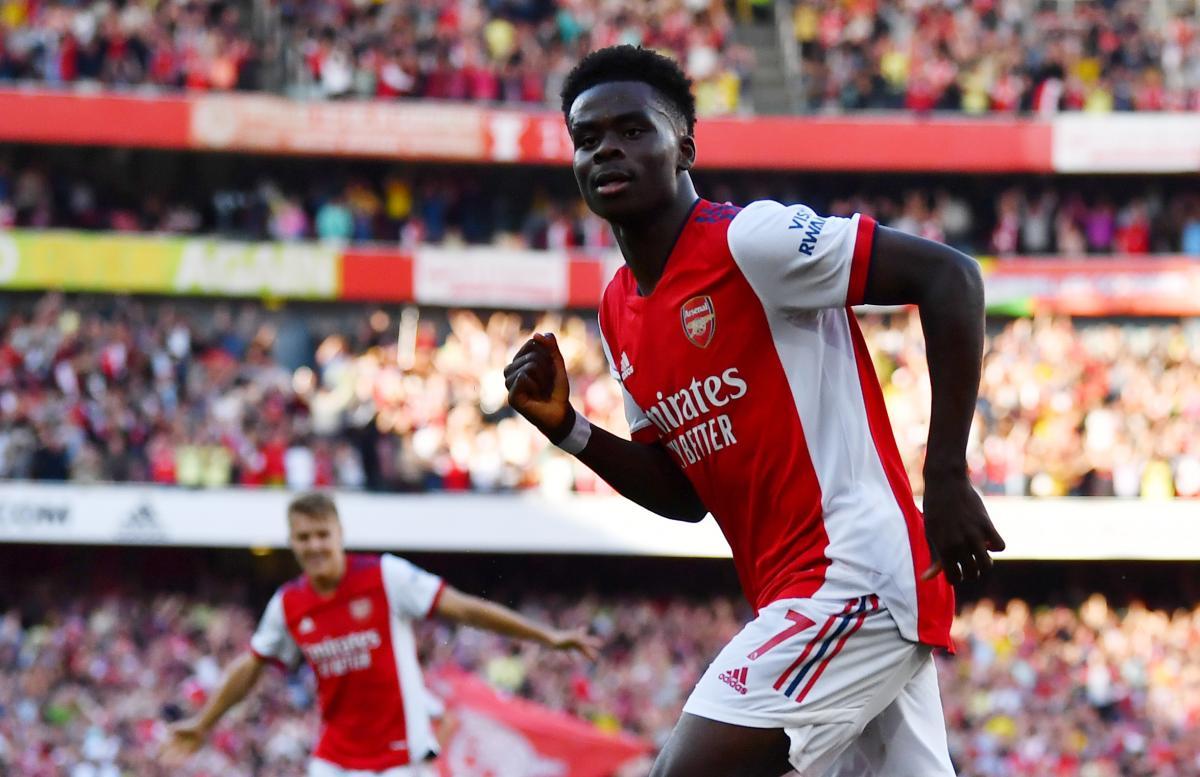 Букайо Сака - юный талант Арсенала / фото REUTERS