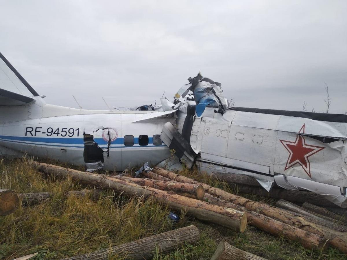 В РФ разбился самолет с парашютистами / фото Telegram-канал Mash