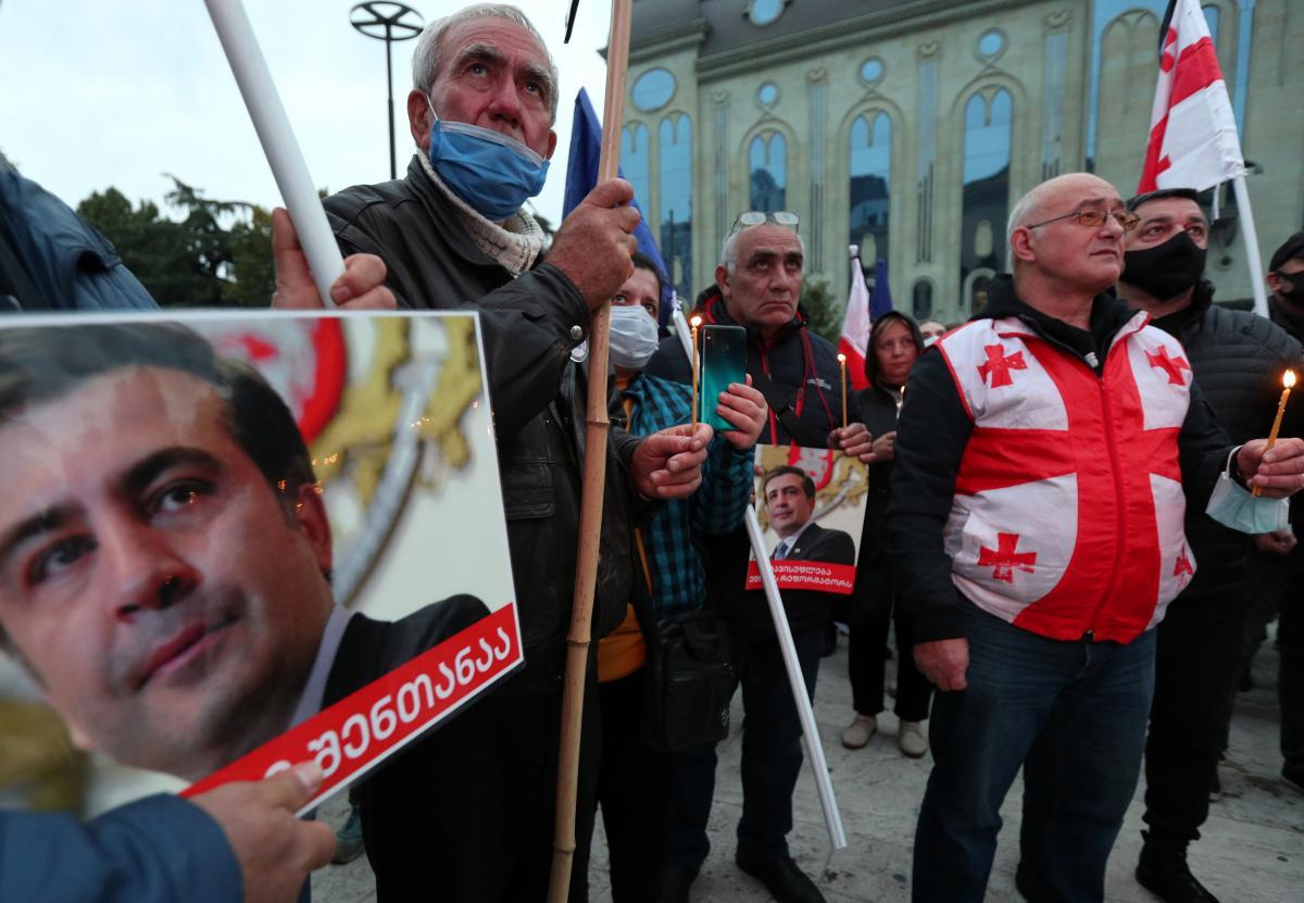 Акция в поддержку Саакашвили в Грузии / фото REUTERS