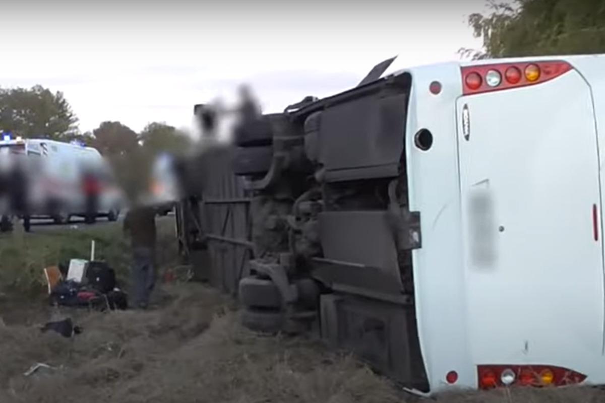 ДТП на Полтавщине с участием автобуса стало смертельным / Скриншот