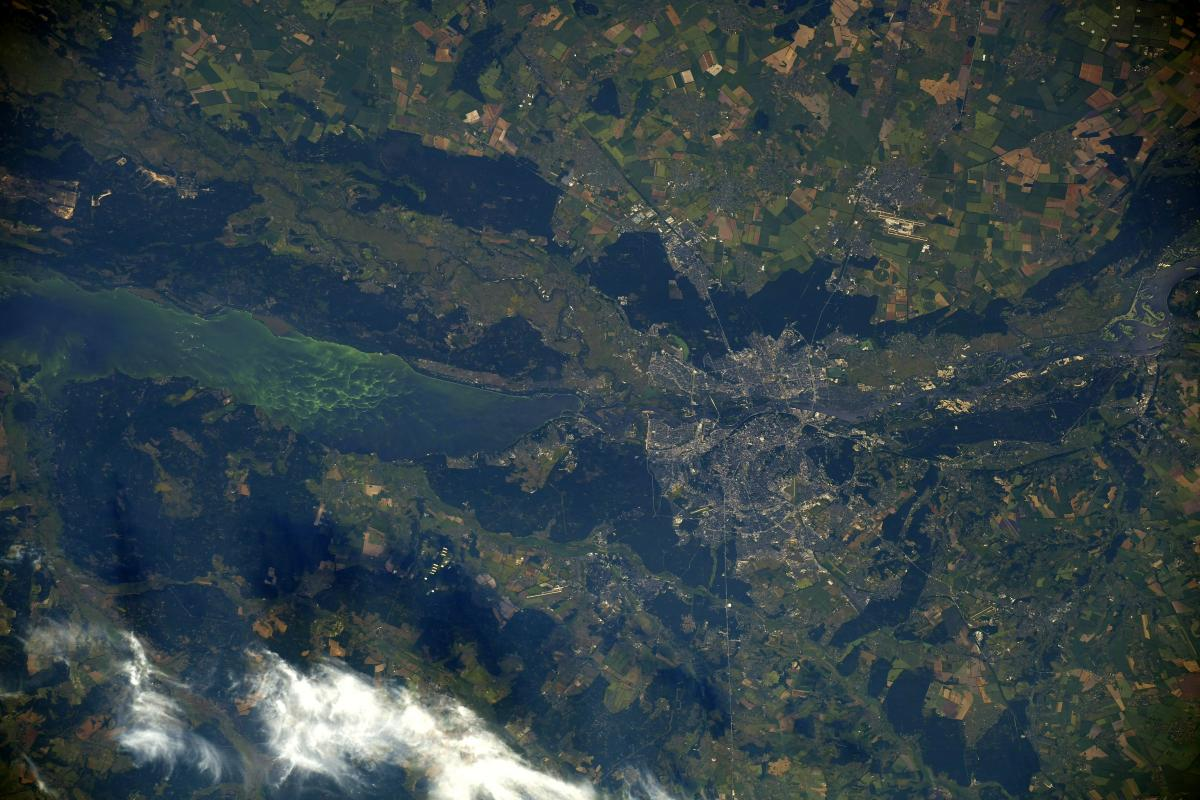 Астронавт зробив фото Києва з космосу / фото twitter.com/Thom_astro
