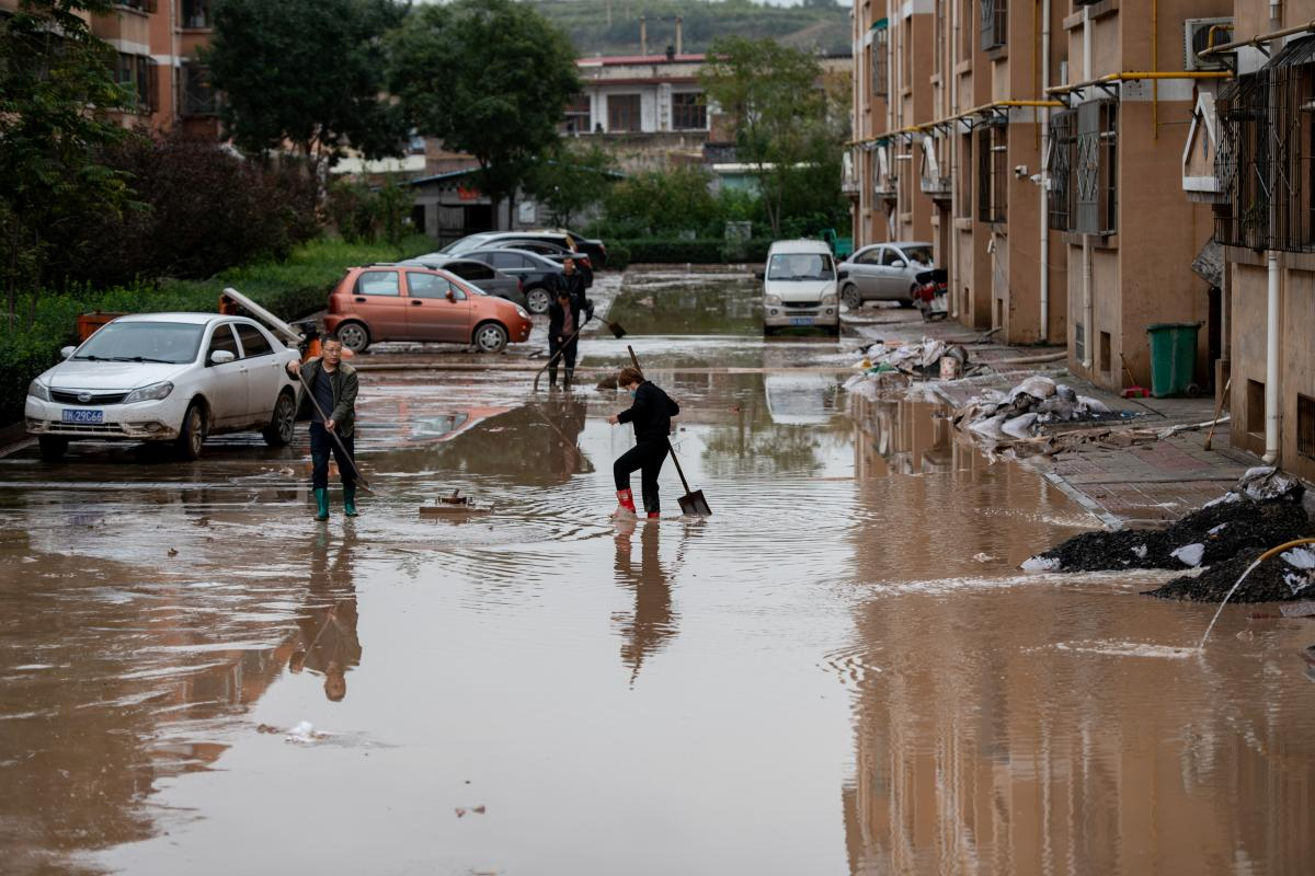 Одну из китайских провинций затопило / фото REUTERS
