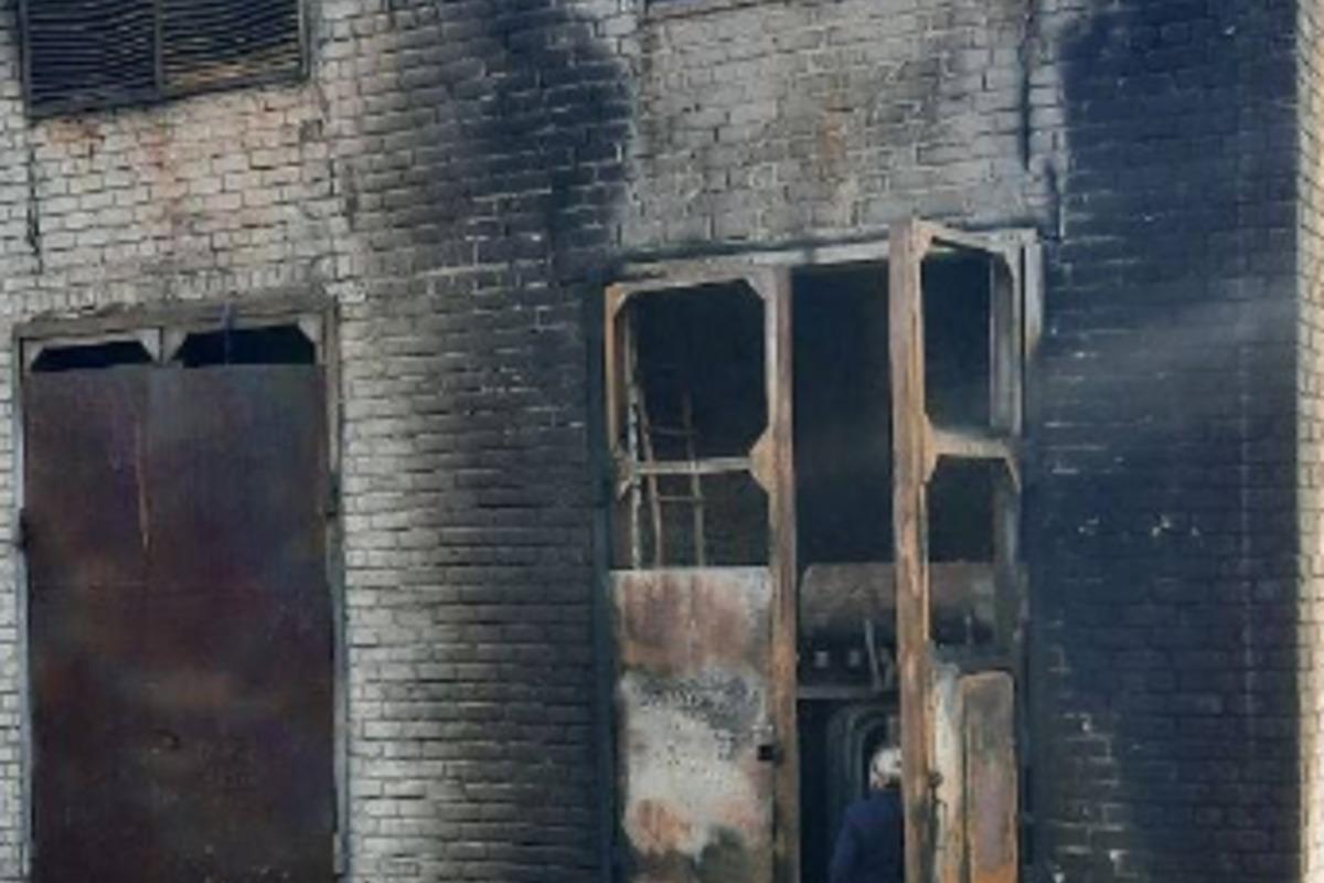"Псевдоглава ""администрации"" Донецка сообщил о пожаре на тяговой подстанции / фото t.me/kulemzin_donetsk"