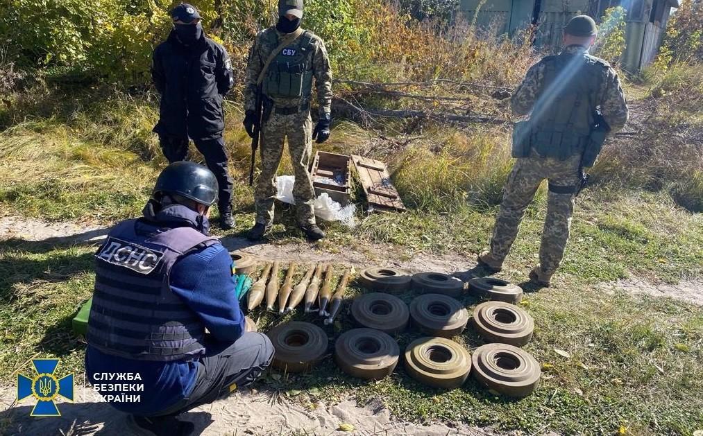 Схрон в 2014 году обустроили участники незаконных вооруженных формирований «ЛНР» \ фото СБУ