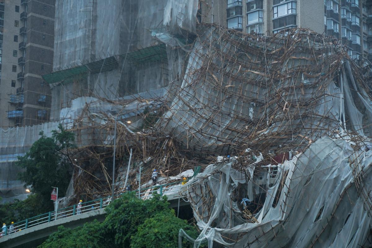 Тайфун в Гонконге / фото REUTERS