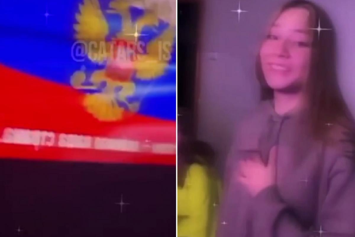 Підлітки співали гімн на камеру / Скріншот