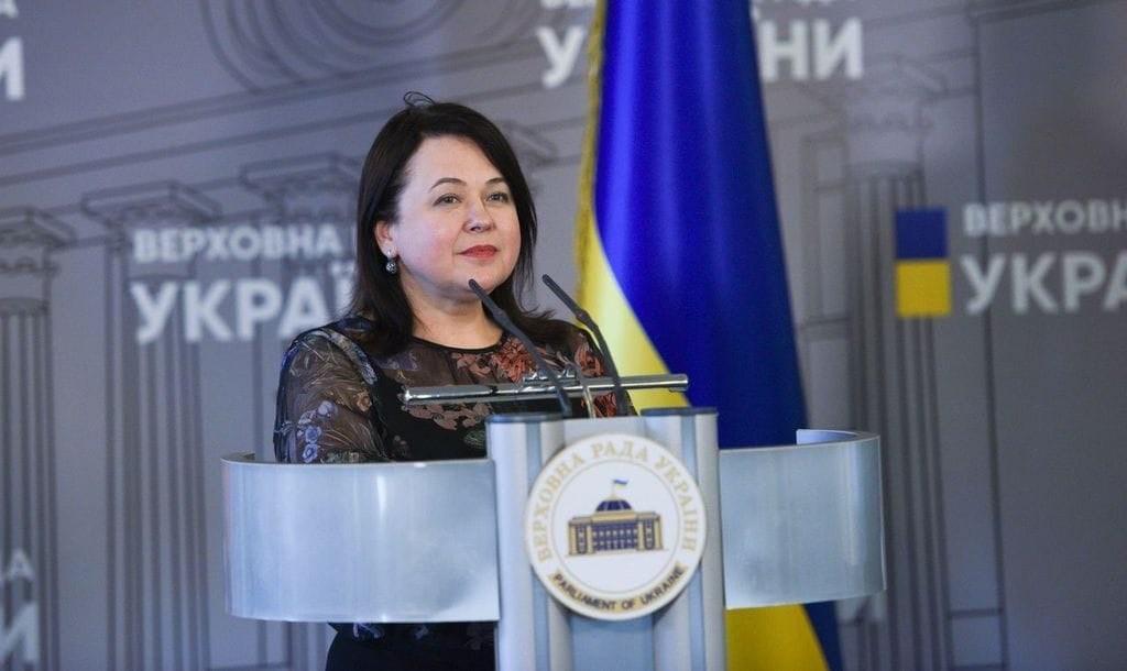 Елена Криворучкина в Верховной Раде
