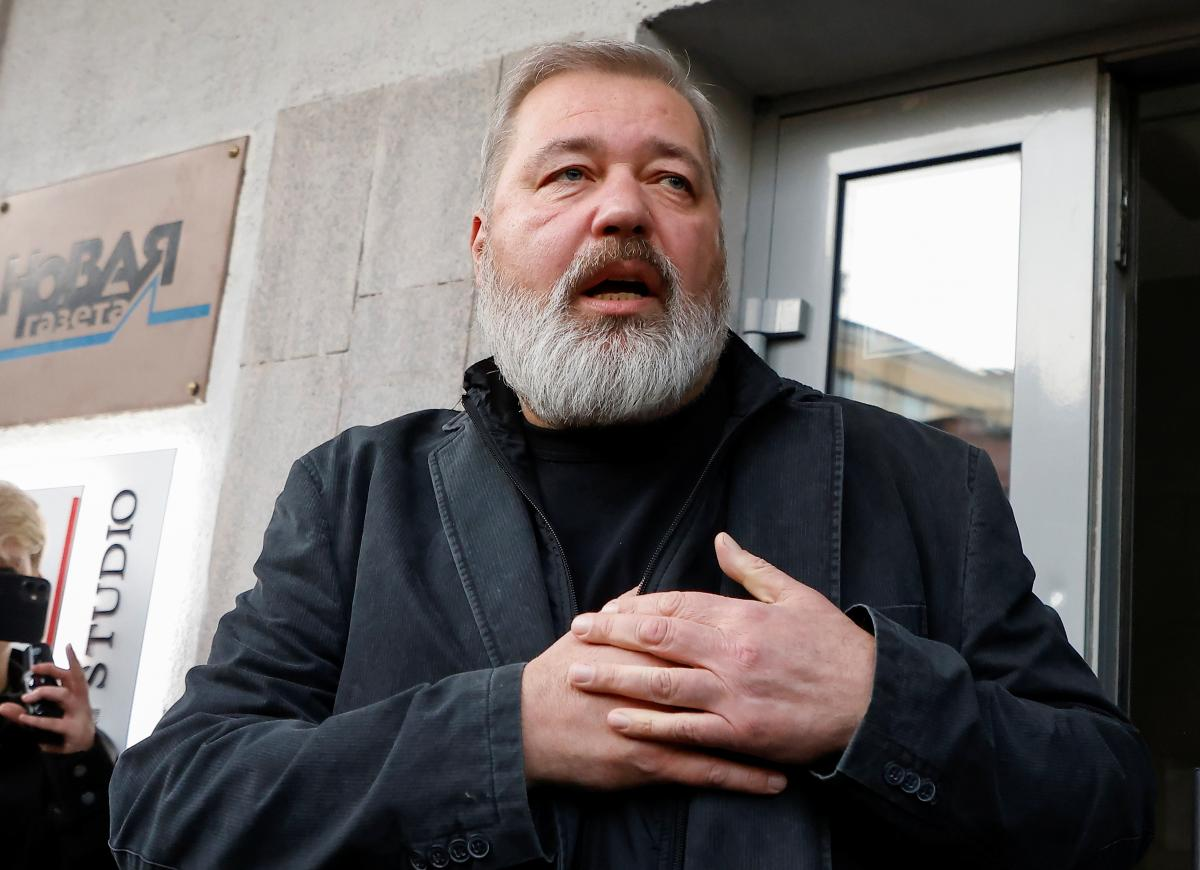 """Putin did not rule out that the Nobel laureate Muratov could be recognized as an """"foreign agent"""" / photo REUTERS"""