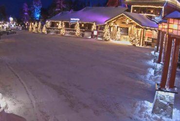 Селище Санта-Клауса в Лапландії засипало снігом (відео)